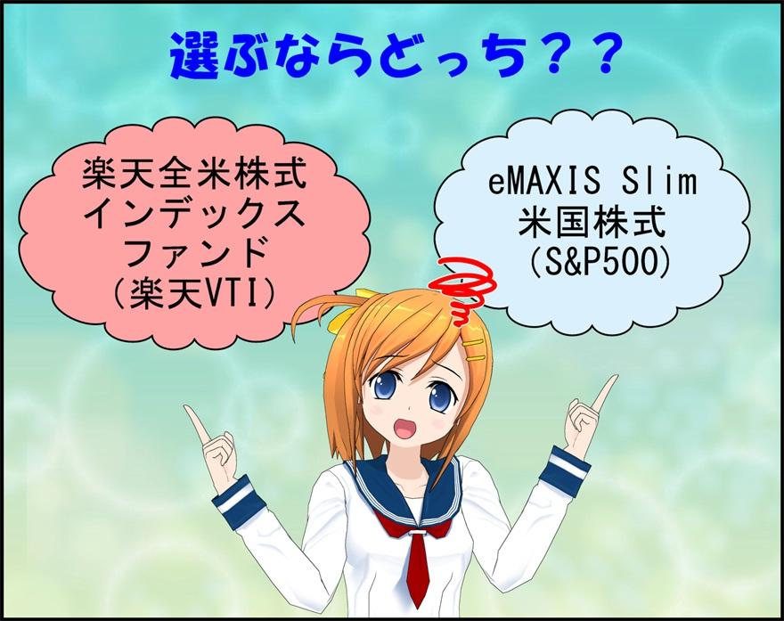 楽天VTIとeMAXIS Slim米国株式(S&P500)どっちが良いの?